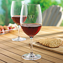 Personalized Indoor/Outdoor Cabernet Wine Glasses