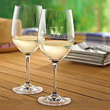 Personalized Indoor/Outdoor Chardonnay Glasses