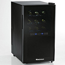 Wine Enthusiast Silent 18 Bottle Dual Zone Touchscreen Wine Refrigerator (Outlet B2720318)