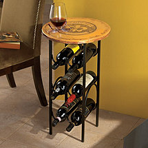 Bordeaux Wine Rack Side Table