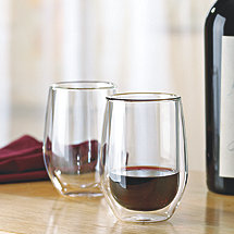 Steady-Temp Double Wall Cabernet Stemless Wine Glasses (Set