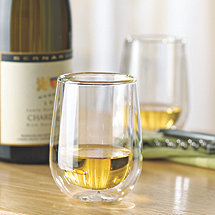Steady-Temp Double Wall Chardonnay / Chablis Stemless Wine Glasses (Set of 4)