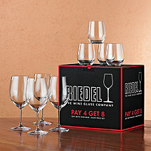 Riedel Vinum Bordeaux Glasses + 4 Bonus 'O' Viognier Glasses