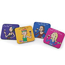 Party Girl Coasters (Set of 4)