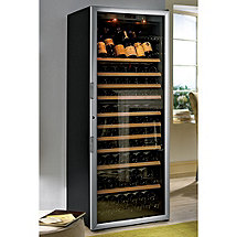 EuroCave Performance 283 Wine Cellar (Black - Glass Door with Brushed Aluminum Trim)