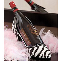 Zebra Stiletto Wine Bottle Holder