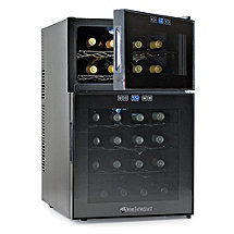 Wine Enthusiast Silent 24 Bottle Dual Zone Touchscreen Wine Refrigerator (Outlet B2720324)