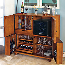Segreto Folding Wine & Spirits Bar with 12 Bottle Silent Wine Refrigerator