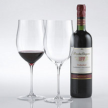 Fusion Triumph Cabernet / Merlot / Malbec / Bordeaux Wine Glasses (Set of 2)