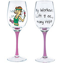 My Workout Party Girl Wine Glass
