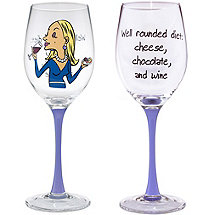 Well Rounded Diet Party Girl Wine Glass