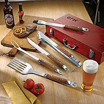 Premium 5-Piece Barbecue Utensil Set with Case