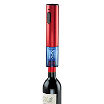 Electric Blue Push-Button Corkscrew (Red)