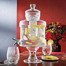 Pedestal Beverage Dispenser with Ice Chamber