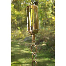 Wine Bottle Rain Chain