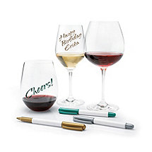 Wine Glass Writer Metallic Pen (3 Pack)