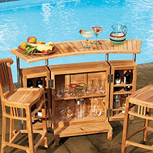 Indoor/Outdoor Teak Bar