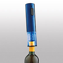 Electric Blue Push-Button Corkscrew (Cobalt Blue)