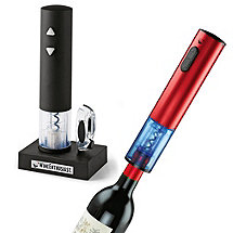 Electric Blue Push-Button Corkscrew Set