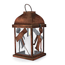 Rustic Outdoor Lantern Corkscrew Design