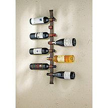 Rustic 8 Bottle Wall Wine Rack