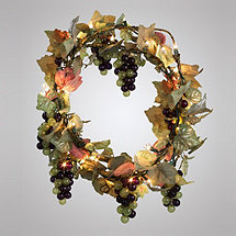 Grape Cluster Lighted Garland