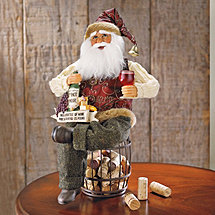 Santa on Cork Barrel