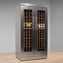 Vinotheque AlumaSteel 300 Wine Cabinet with N'FINITY Cooling Unit