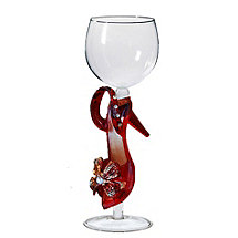 Collectible Red Stiletto Wine Glass
