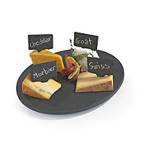 Slate Board Lazy Susan & Set of 4 Slate Cheese Markers