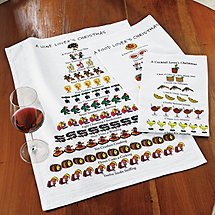 Wine, Food and Cocktail Lovers Kitchen Towels