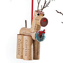 Dasher Cork Critter Reindeer Ornament