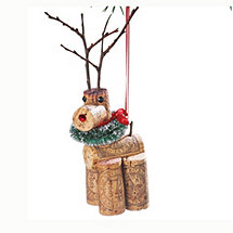 Dancer Cork Critter Reindeer Ornament