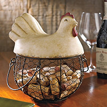 Hen Wine Cork Catcher