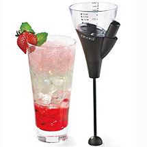 Gravity Release Jigger with Layered Drink Tool