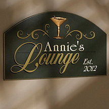 Personalized Lounge Sign (Green)