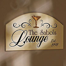 Personalized Lounge Sign (Cream)