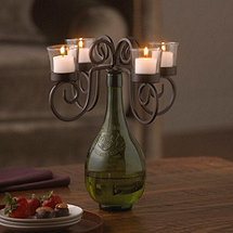 Vino Wine Bottle Candelabra
