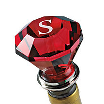 Personalized Crystal Bottle Stopper (Red)