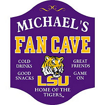LSU Tigers Fan Cave Sign