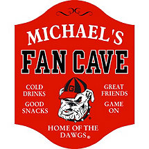 Georgia Bulldogs Fan Cave Sign