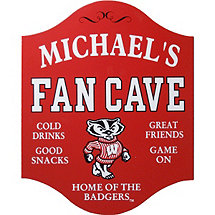 Wisconsin Badgers Fan Cave Sign