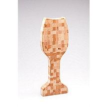 Wine Glass Shaped Butcher Block