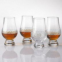 Glencairn Whiskey Glasses With Diamond Band (Set Of 4)