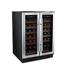 Wine Enthusiast 42 Bottle Double Door Dual Zone Wine Refrigerator (Stainless Steel Trim Door) (Outlet B2740240)