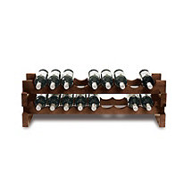 18 Bottle Stackable Wine Rack Kit (Walnut)