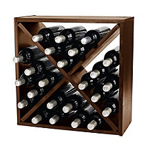 24 Bottle Compact Cellar Cube Wine Rack (Walnut)