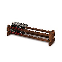 26 Bottle Stackable Wine Rack Kit (Walnut)
