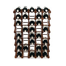 Modular 40 Bottle Pine Wine Rack (Walnut)