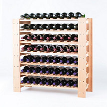 Swedish 63 Bottle Wine Rack Natural